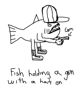 Fish with Gun